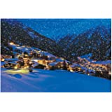 "Snow Village Backdrop Banner (108"" X 72"") Plastic - Christmas Decor"