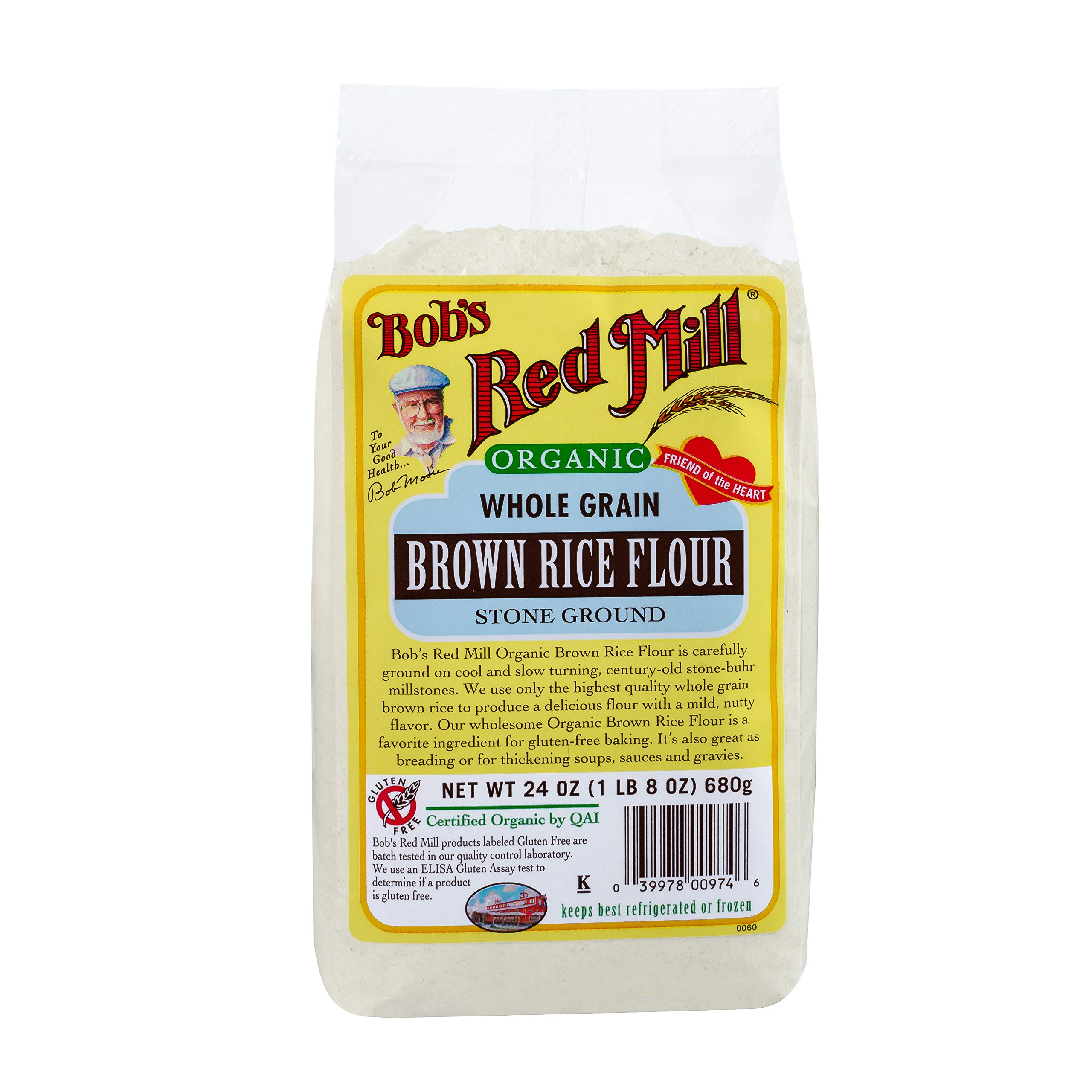 Bob's Red Mill Organic Brown Rice Flour, 24-ounce (Pack of 4) by Bob's Red Mill