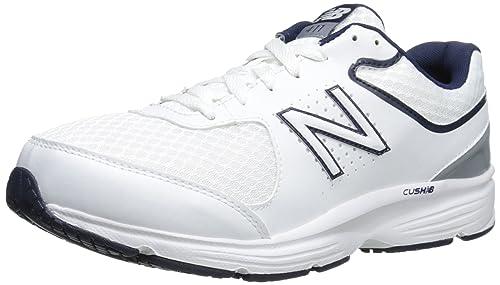 New Balance Men's MW411WB2 Walking Shoe, White/Blue, ...