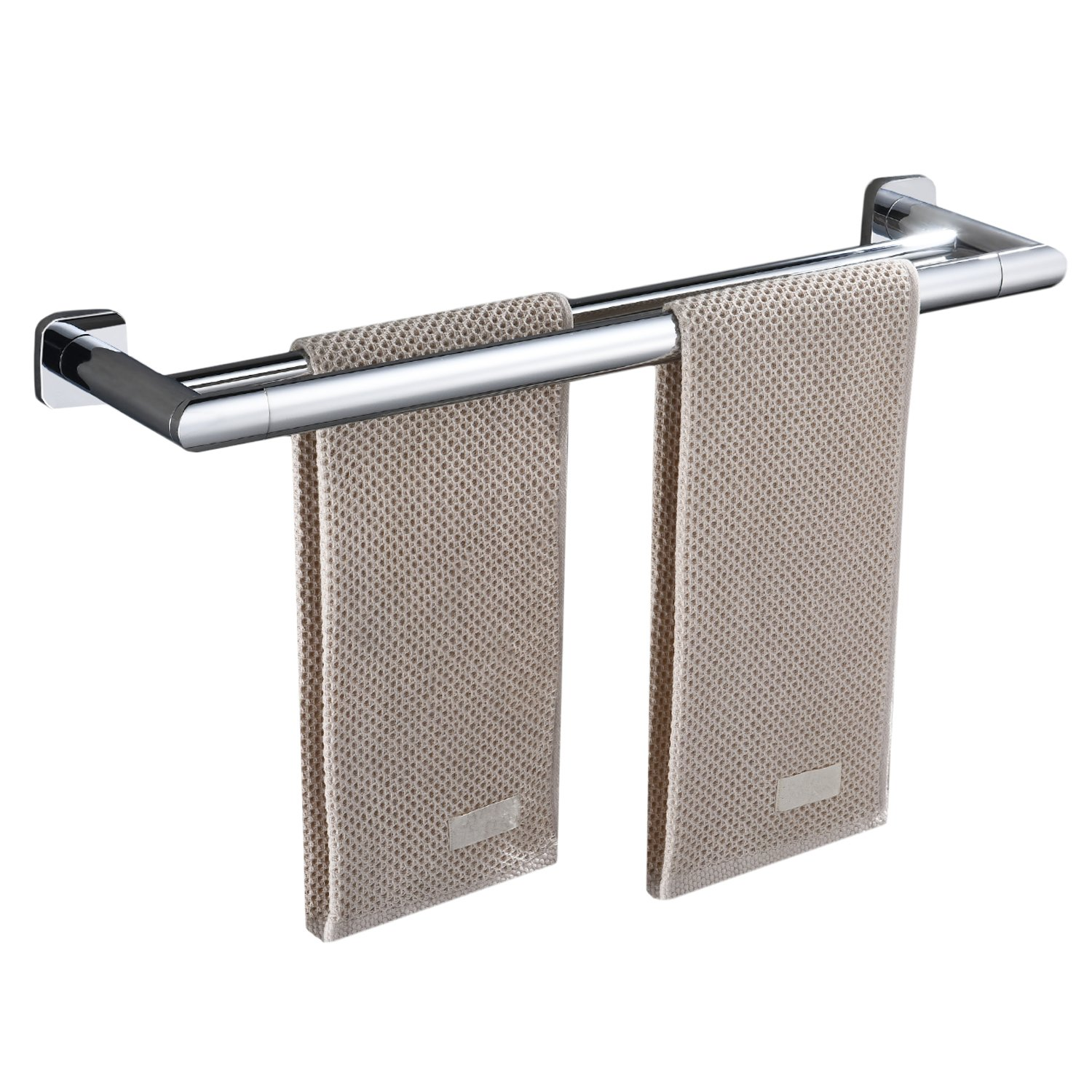 Homovater Wall Mounted Bathroom Towel Bar Rail SUS Stainless Steel Towel Rail in Chrome Finish Single Layer