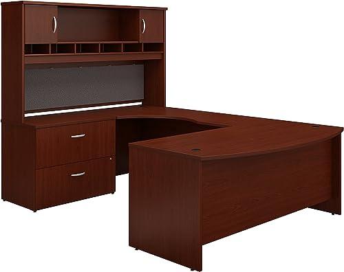Cheap Bush Business Furniture Series C 72W Left Handed Bow Front U Shaped Desk home office furniture set for sale
