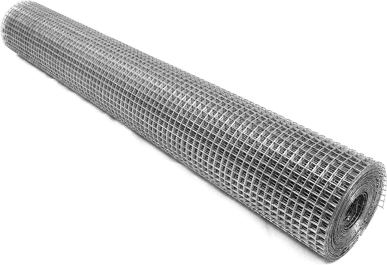 10m, 0,75mm Volierendraht 100cm 16x16mm Maschendraht 4-Eck Verzinkt Drahtgitter