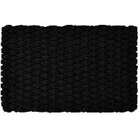 """Rockport Rope Doormats 2034374 Indoor & Outdoor Doormats, 20"""" x 34"""", Black"""