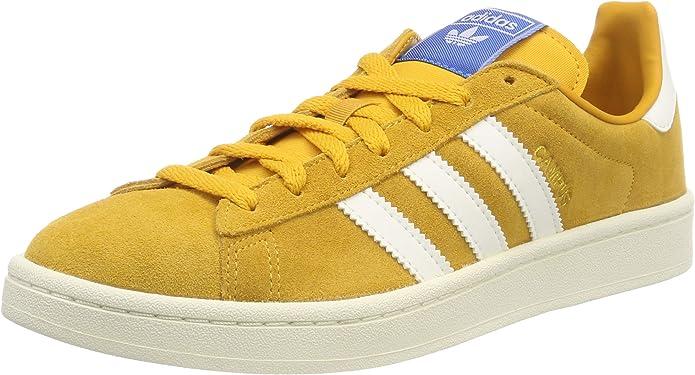 adidas Campus Sneakers Herren Gelb mit weißen Streifen