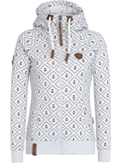 Sweater Hooded Zip Women Naketano Schluckischluckischlucki