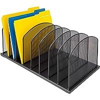 AmazonBasics 8-Tier File Organizer, Black Steel, 2-Pack