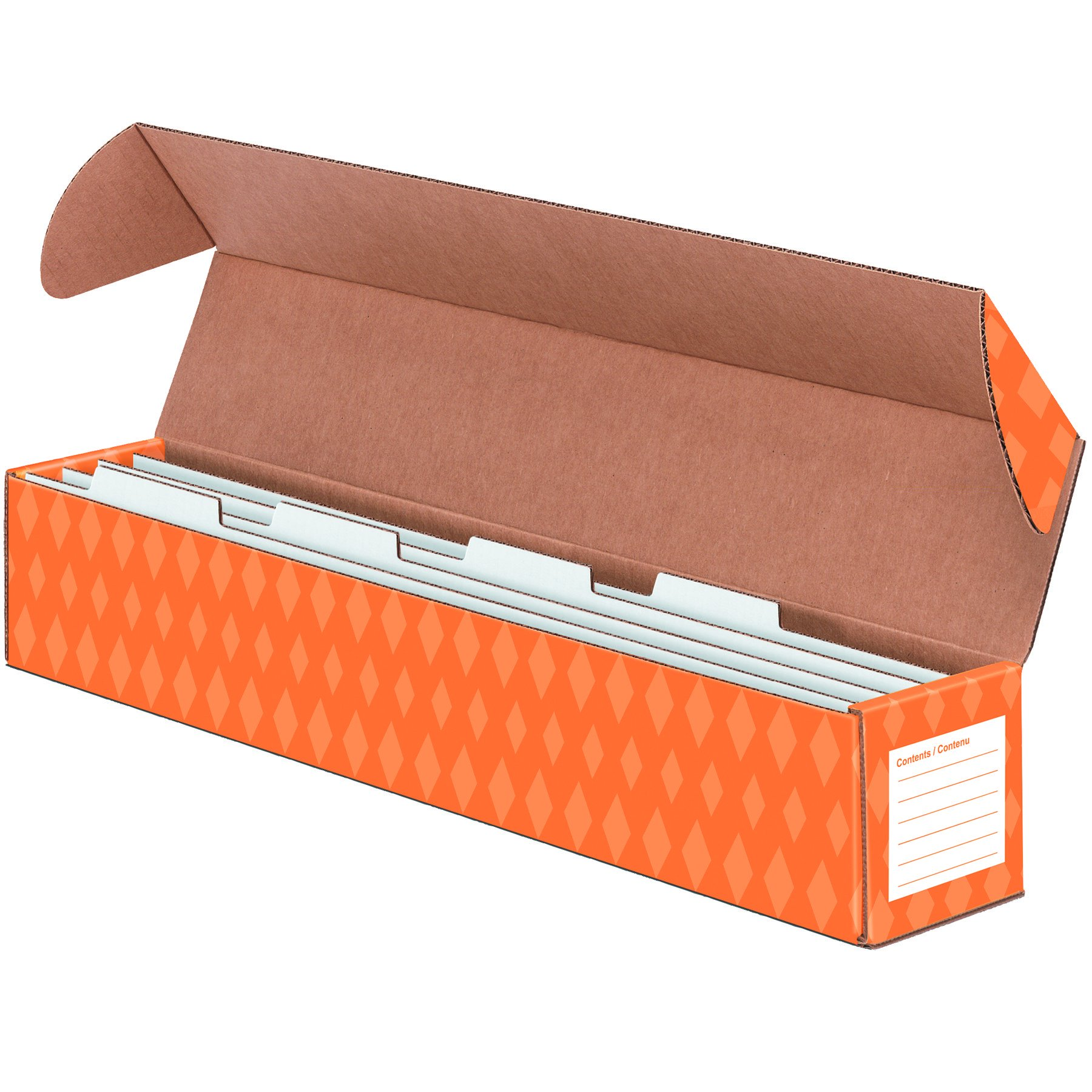 Bankers Box Classroom Sentence Strip Storage Box with 4 Dividers 4.13 x 25.50 x 4.13(3380401)