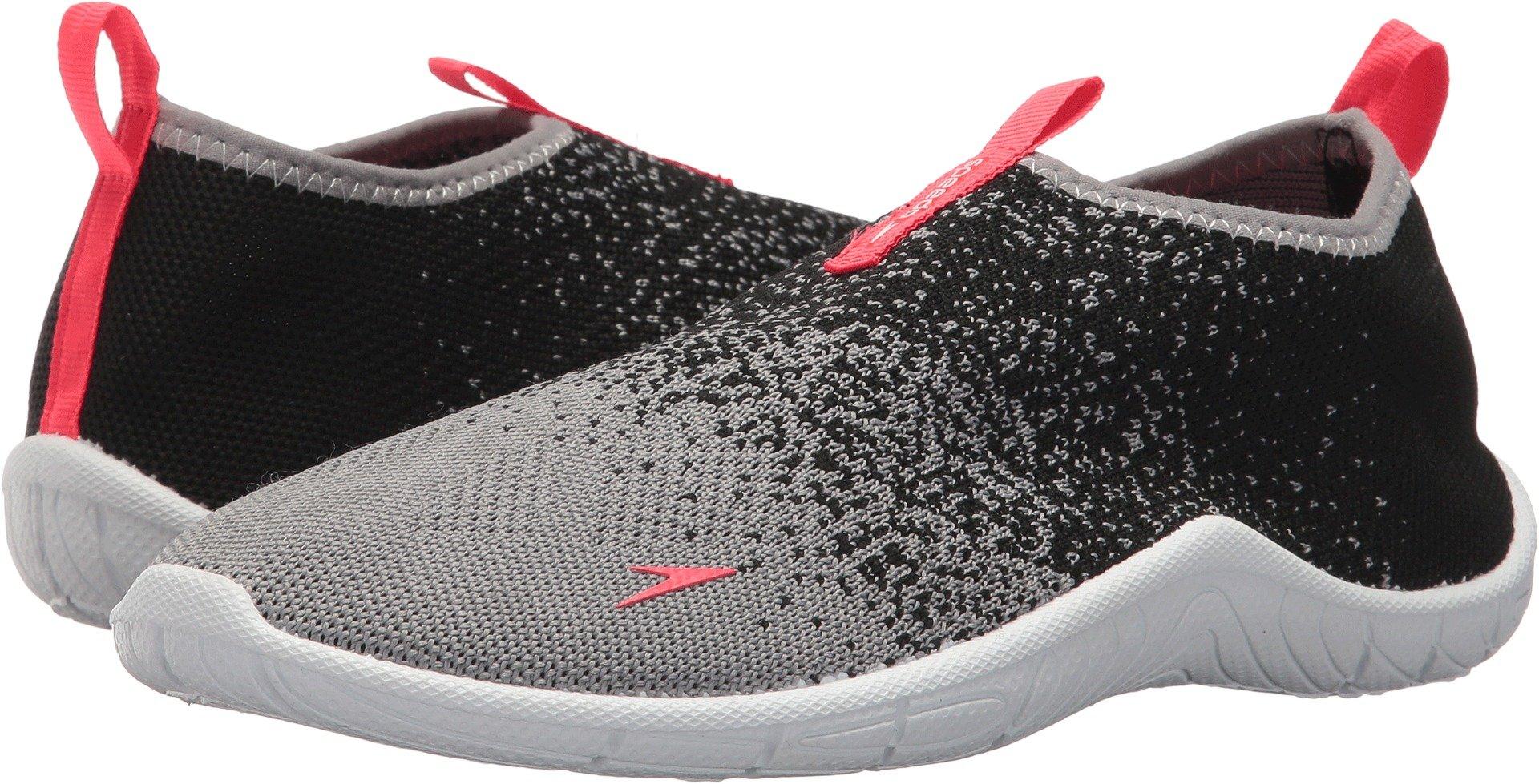 Speedo Women's Surf Knit Water Shoe, Frost Grey/Flame, 8 C/D US