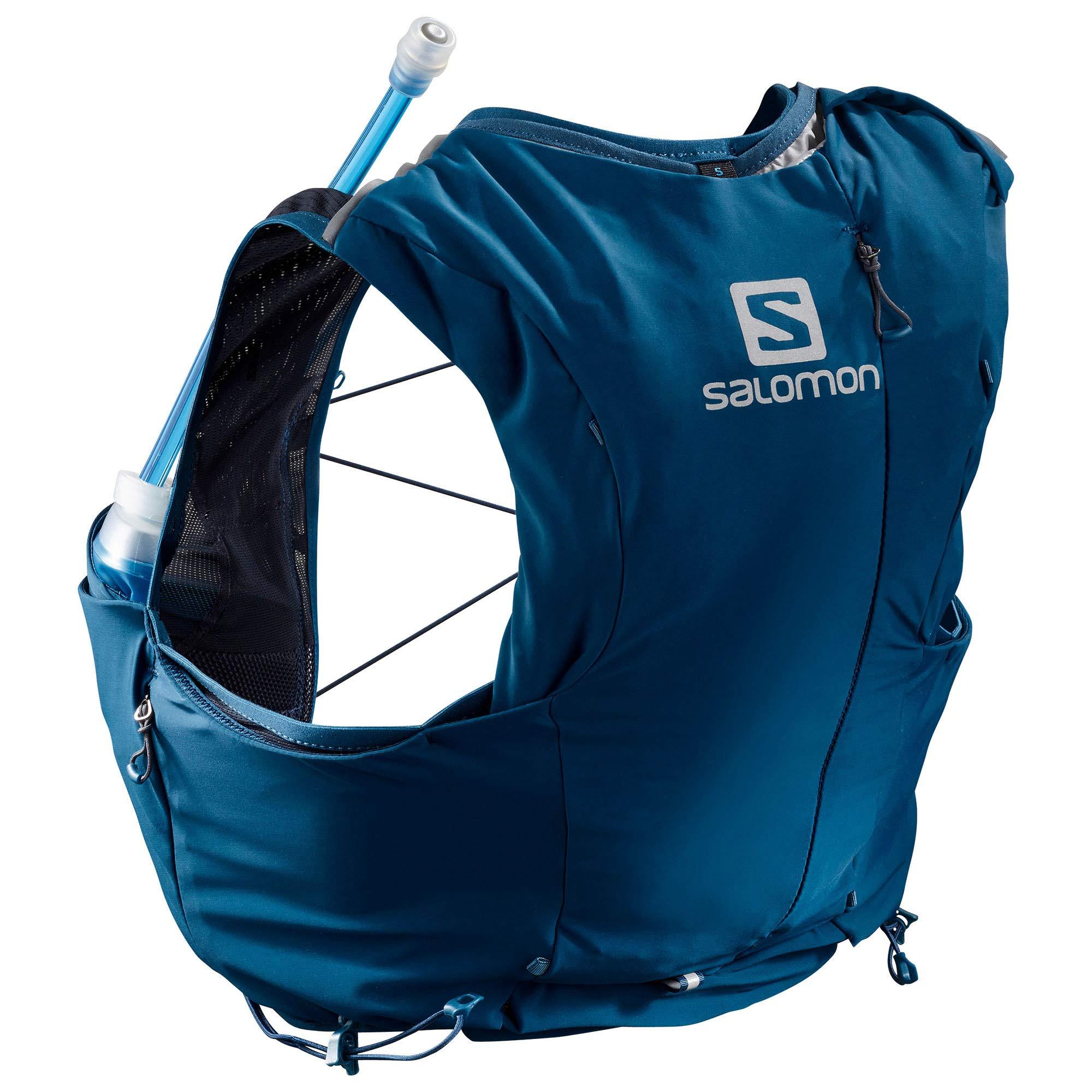 Salomon Women's Adv Skin 8 Set Hydration Stretch Pack, Poseidon/Night, XX-Small by Salomon (Image #1)