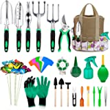 Garden Tools Set 82pcs, Extra Succulent Tools Set, Heavy Duty Gardening Tools Kit with Soft Rubberized Non-Slip Handle…