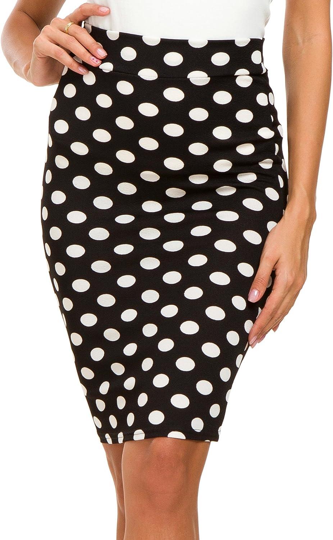 EXCHIC Mujer Moda Cintura Alta Falda de L/ápiz