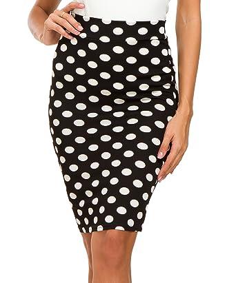 770031c39 Urban CoCo Women's High Waist Stretch Bodycon Pencil Skirt at Amazon ...