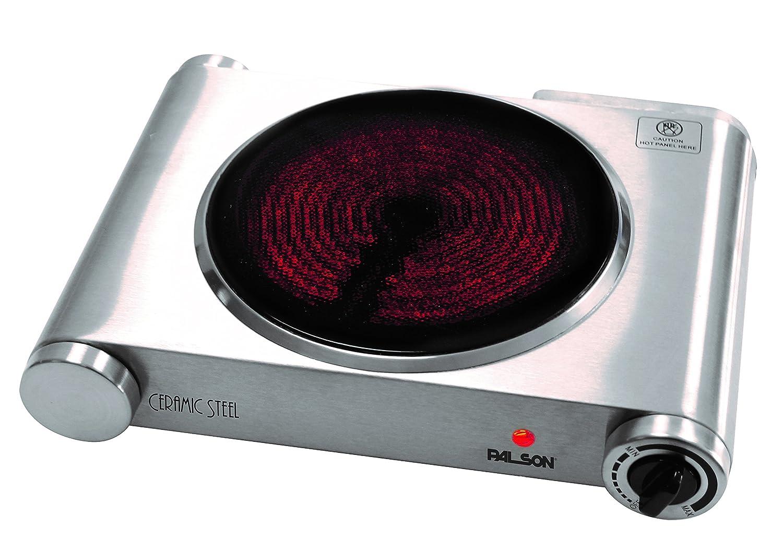 Palson Ceramic Steel - Placa de cocina, 1200W, color plateado: Amazon.es: Hogar
