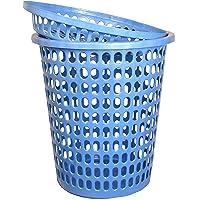 mastBus Unbreakable Plastic Fibre Laundry Basket Durable, 30 L (Blue)