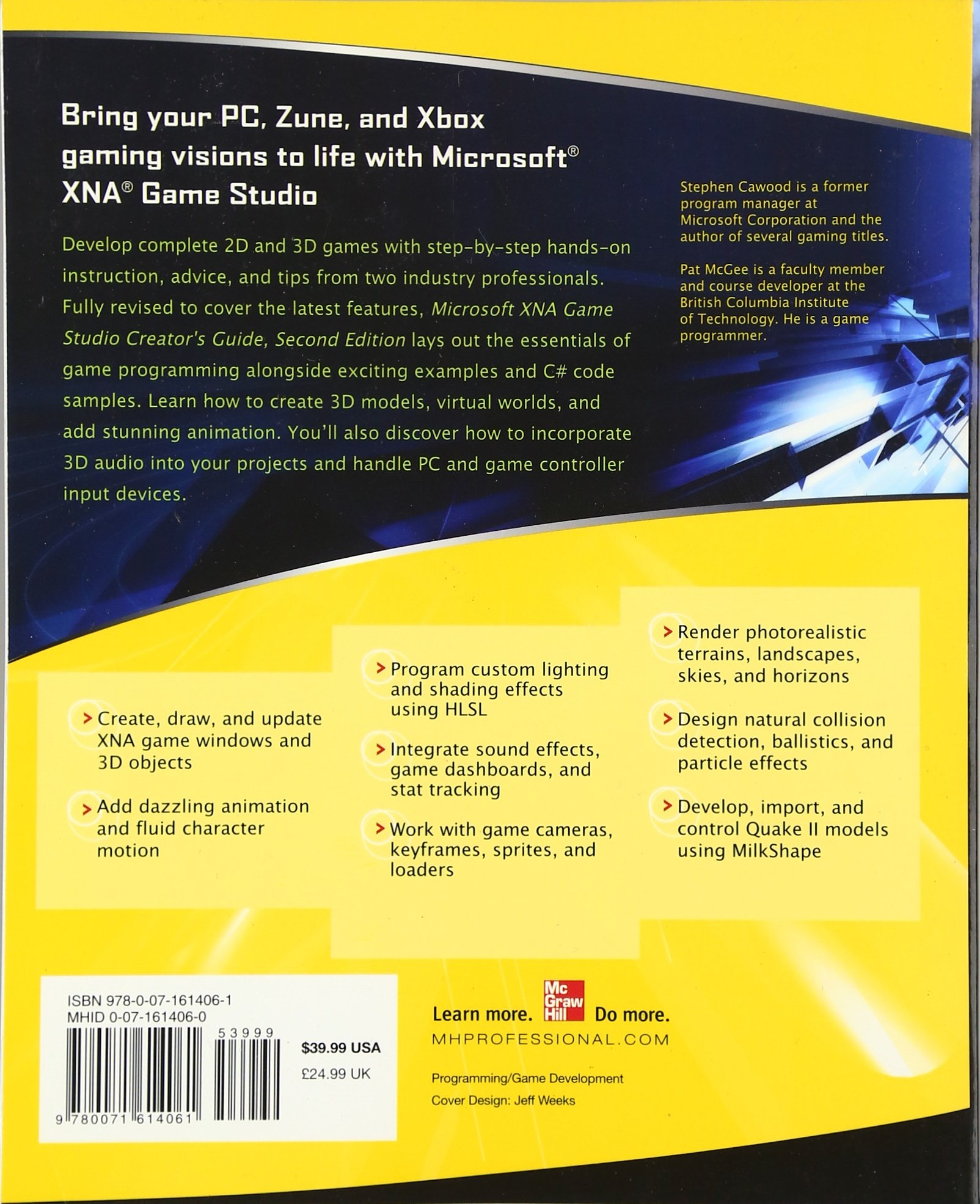 Microsoft xna game studio creator s guide second edition amazon co uk stephen cawood pat mcgee 9780071614061 books