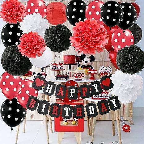 Mickey theme baby shower nursery decor Mickey Birthday Party fabric garland