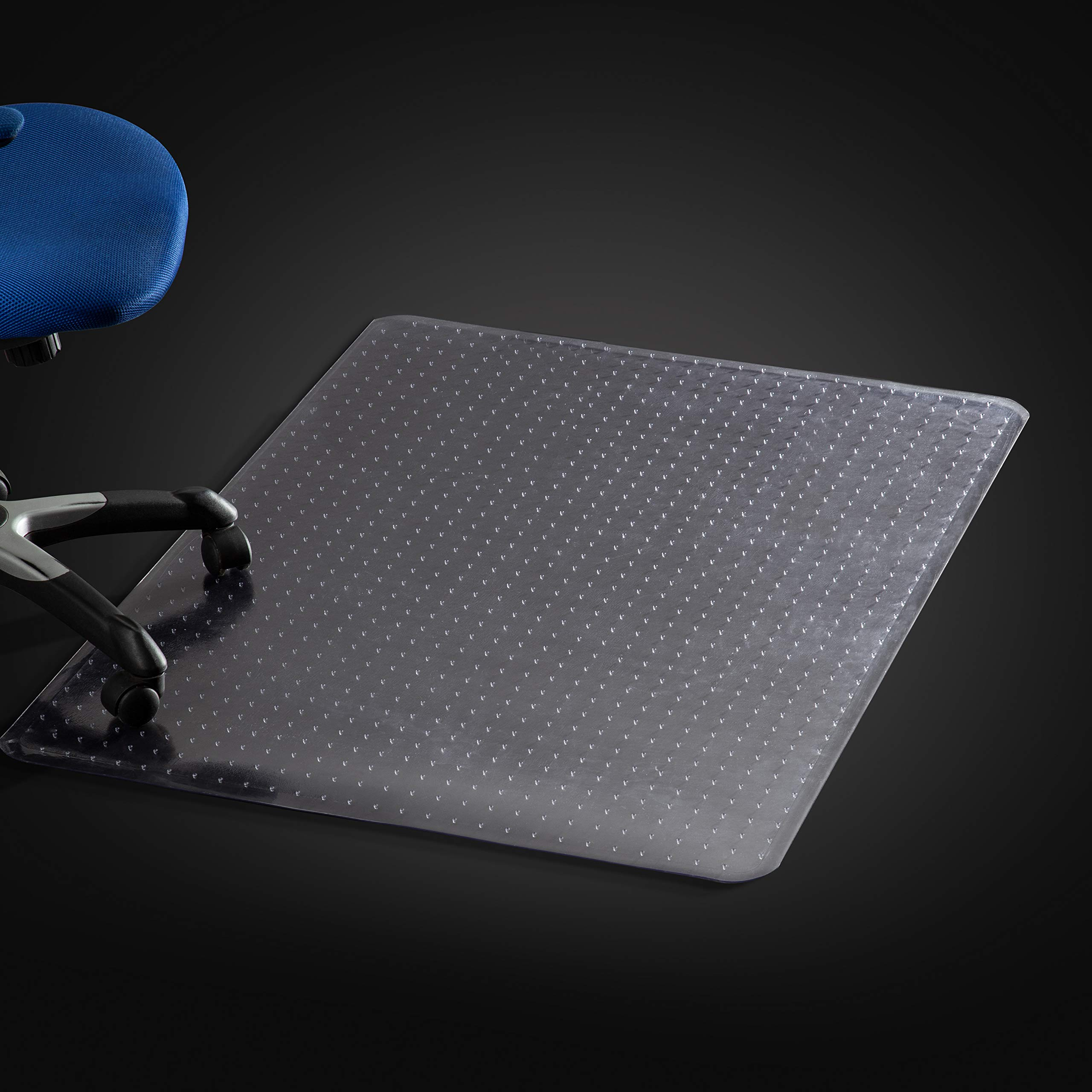Mastermat Office Chair Mats for Carpeted Floors, Studded Desk Floor Mat, Clear Heavy Duty for Low and Medium Pile Large 36'' X 48'' Thick 5/32'' (0.145) Rectangle, Shipped Flat (1 Pack)