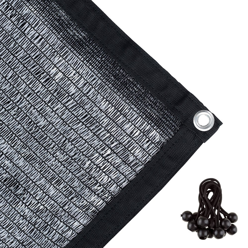 Agfabric 40% Sunblock Shade Cloth with Grommets for Garden Patio 20' X 24', Black by Agfabric