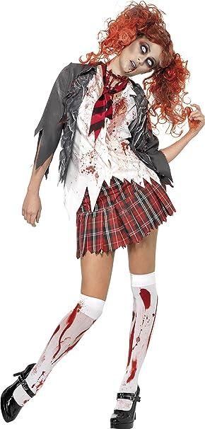 Smiffys-32929XS Halloween Disfraz de Colegiala Zombi High School ...