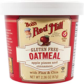 product image for Bob's Red Mill Gluten Free Oatmeal Cup, Apple pieces and Cinnamon with Flax and Chia, 2.36 oz
