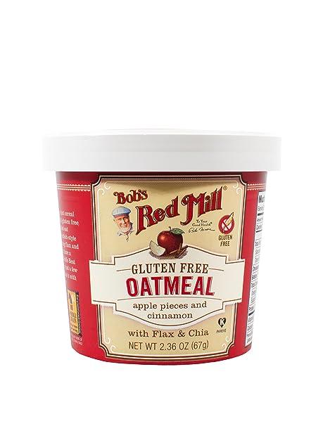 Bobs Red Mill - taza de avena libre de Gluten manzana canela - oz 2,