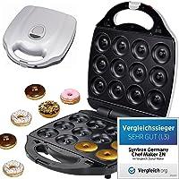 Syntrox Germany XXL Donutmaker Chef Maker mit herausnehmbaren und spülmaschinen geeigneten Wechselplatten