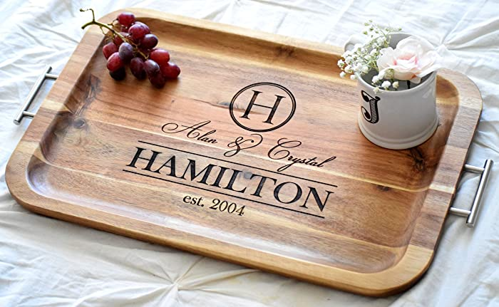88cc51fed02 Personalized Serving Tray - Personalized TV Tray with Handles - Breakfast  Tray - Breakfast In Bed - Wood Serving Tray Bed Tray Table Breakfast Bed  Tray