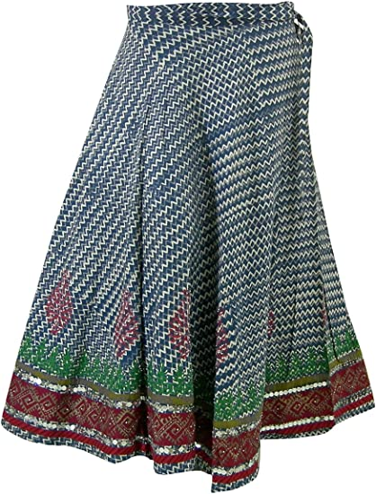 Panini Impex Gift for Women Block Print Skirt India Clothing