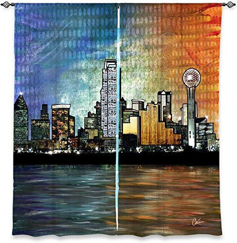 Window Curtains Lined from DiaNoche Designs Unique, Decorative, Funky, Cool by Corina Bakke – Dallas Skyline