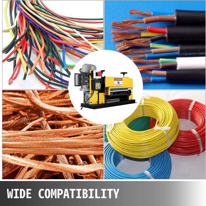 25mm para Varios Tipos de Cable Redondo y Cable Plano con Cubierta Wire Stripping Machine VEVOR M/áquina de Pelacable 220V M/áquina Peladora de Cables Autom/ática M/áquina Pelacable Industrial 1.5mm