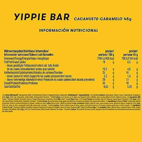 Weider Yippie Bar. Barrita de Proteína 36%. Bajo contenido en ...