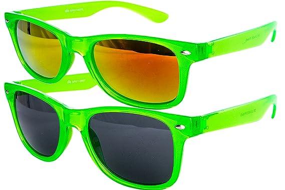 3 er Set EL-Sunprotect® Sonnenbrille Nerdbrille Brille Nerd Matt Gummiert Schwarz h06NTf