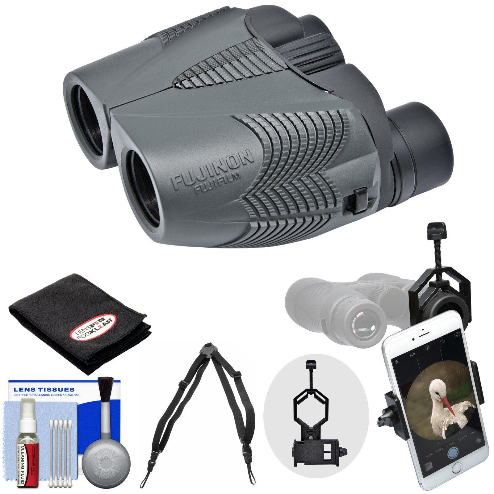 Fujifilm Fujinon KF M 8x25 Binoculars with Case with Smartphone Adapter + Harness + Cleaning Kit