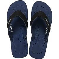 UNISPEED Women's Diabetic Care + Super Soft Flip-Flops (Navy Orthopedic Slippers)