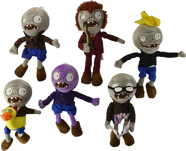OLIA DESIGN OliaDesign Zombie Plush (Set of 6 ), Purple/Grey, 28cm