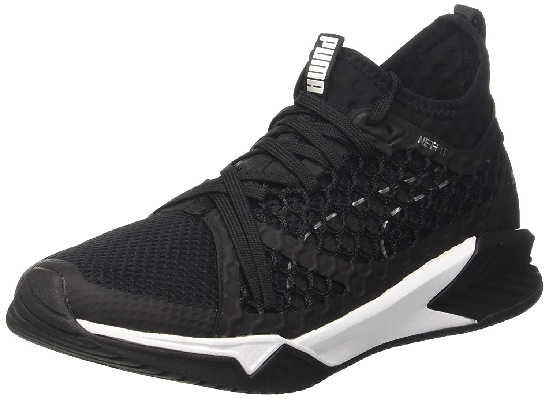 Puma Ignite XT Netfit, Zapatillas Deportivas para Interior para Mujer 37 EU|Negro (Black-white)