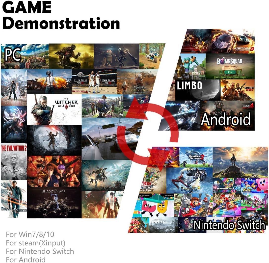 ZD-C Wired Gaming cable controlador gamepad Mando para PC [Compatible for Nintendo Switch,Steam,TV BOX PC(Win7-Win10),Android] [windows]: Amazon.es: Videojuegos