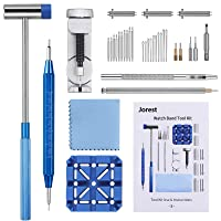 Jorest 38pcs Watch Link Removal Tool, Watch Band Tool Kit, Watch Repair Kit to Adjust and Replace and Punch Hole the Watch Strap, With User Manual, Link Pins, Watch Link Remover