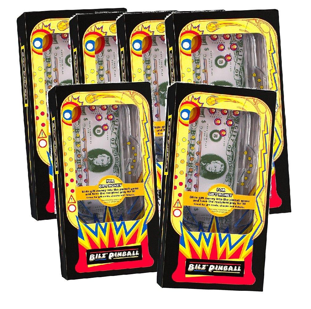 (Set of 6) Retro Pinball Money Machine Puzzles - Fun Challenging Gift Holder