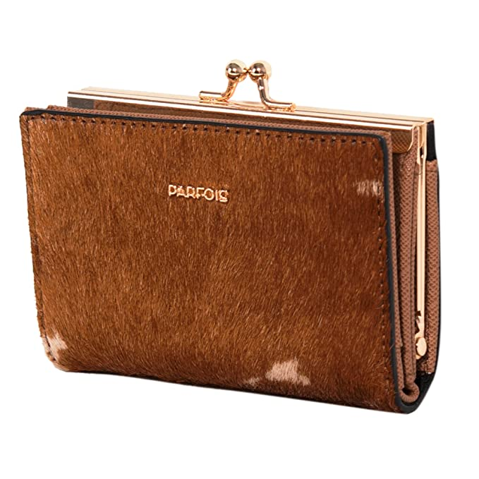 Parfois - Monedero Fur - Mujeres - Tallas S - Camel: Amazon ...