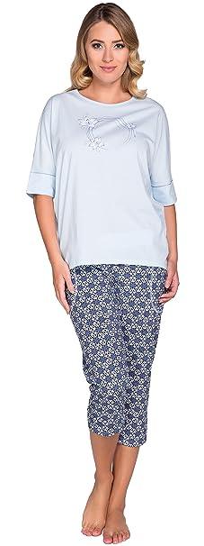 Italian Fashion IF Mujer Pijamas Marina (Azul, S)