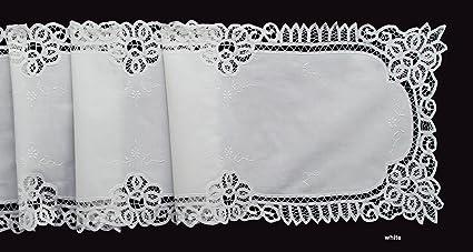 amazon com white battenburg lace table runner dresser scarf 16x70
