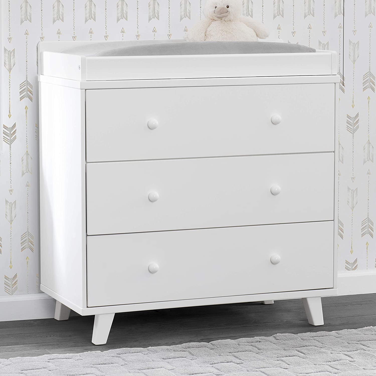 120 Ounce Delta Children Aster 3 Drawer Dresser with Changing Top