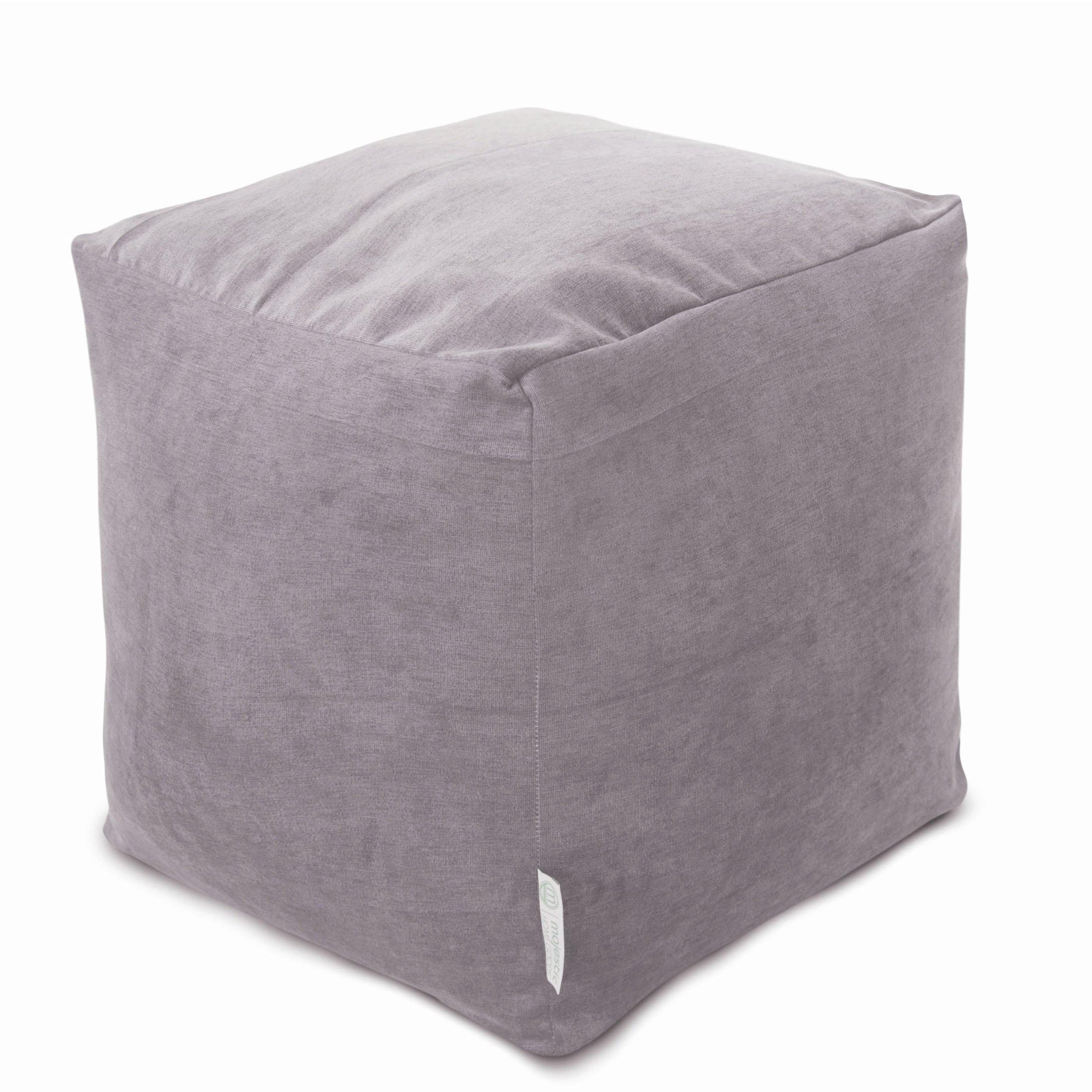 Majestic Home Goods Vintage Villa Indoor Bean Bag Ottoman Pouf Cube 17'' L x 17'' W x 17'' H