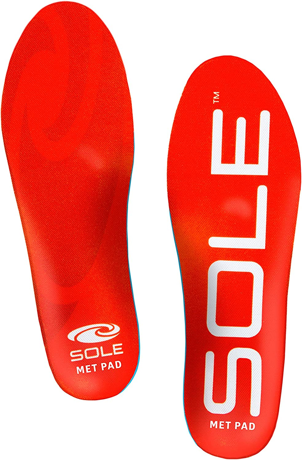 SOLE Active Medium Shoe Insoles with Metatarsal Pads - Multiple Sizes