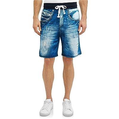 Blue Jean Print Sleep Lounge Jam Shorts - Small at Amazon Men's Clothing store
