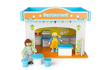 Small Foot 10852 Casa De Juegos De Madera Para Restaurante