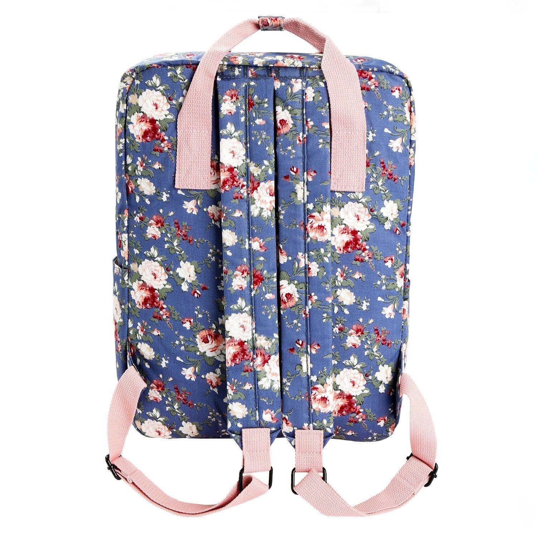 71962d4267 Micoop Waterproof Floral Backpack Handbag Travel School Bag for Girls and  Women (Light Purple L