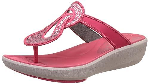 633c61fc9821 Clarks Women s Wave Glitz Berry Red Fashion Sandals - 3.5 UK India (36 EU