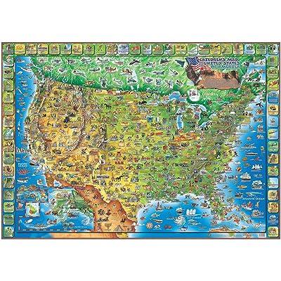 USA, Children's, 38x54: Dino Maps: Toys & Games